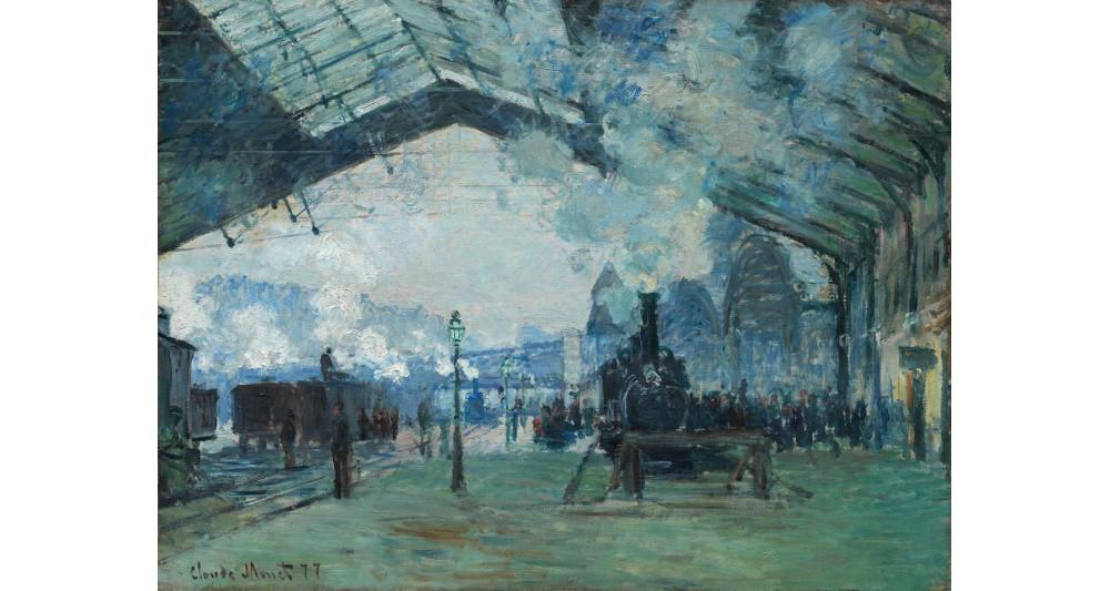 Manufaktur 11 - Claude Monet: Ankunft des Normandie-Zuges, Gare Saint-Lazare