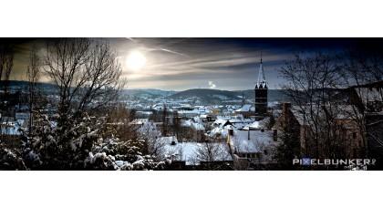 Ausblick vom Grünewalder Berg im Winter