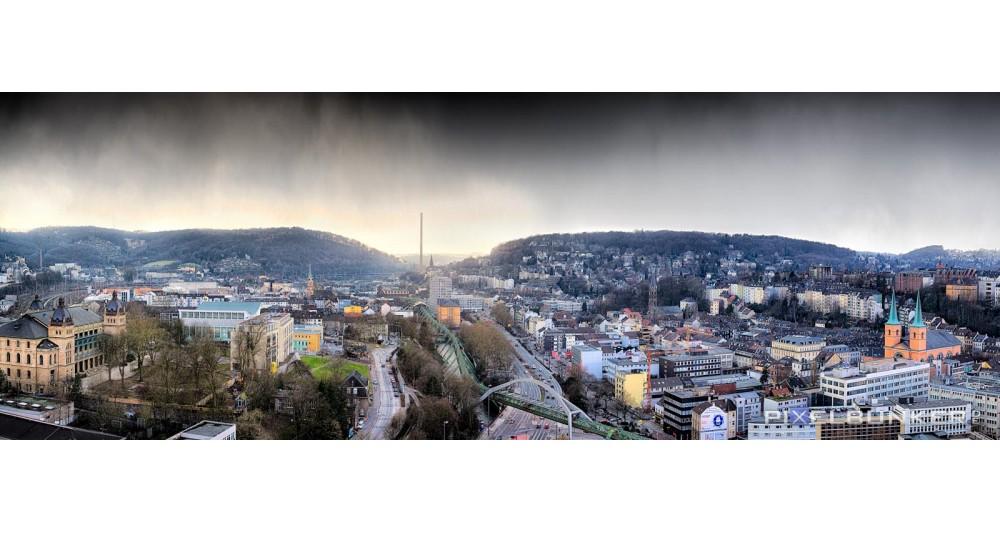 Ausblick vom Stadtsparkassenhochhaus Richtung Vohwinkel