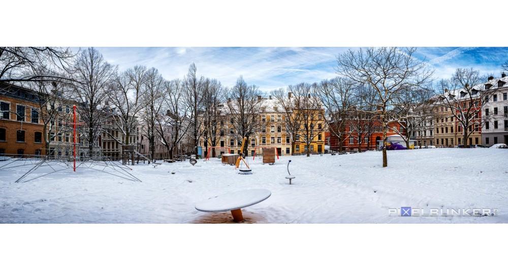 Schusterplatz im Schnee